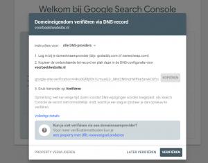 Google Search Console website aanmelden