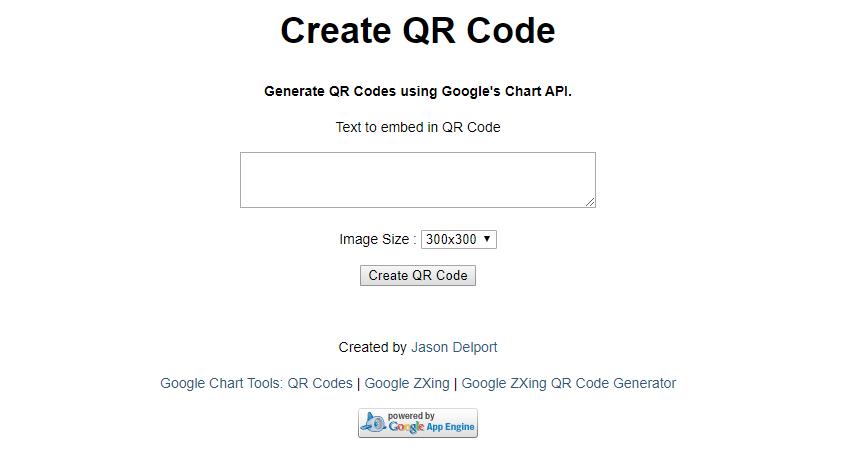 QR code appspot