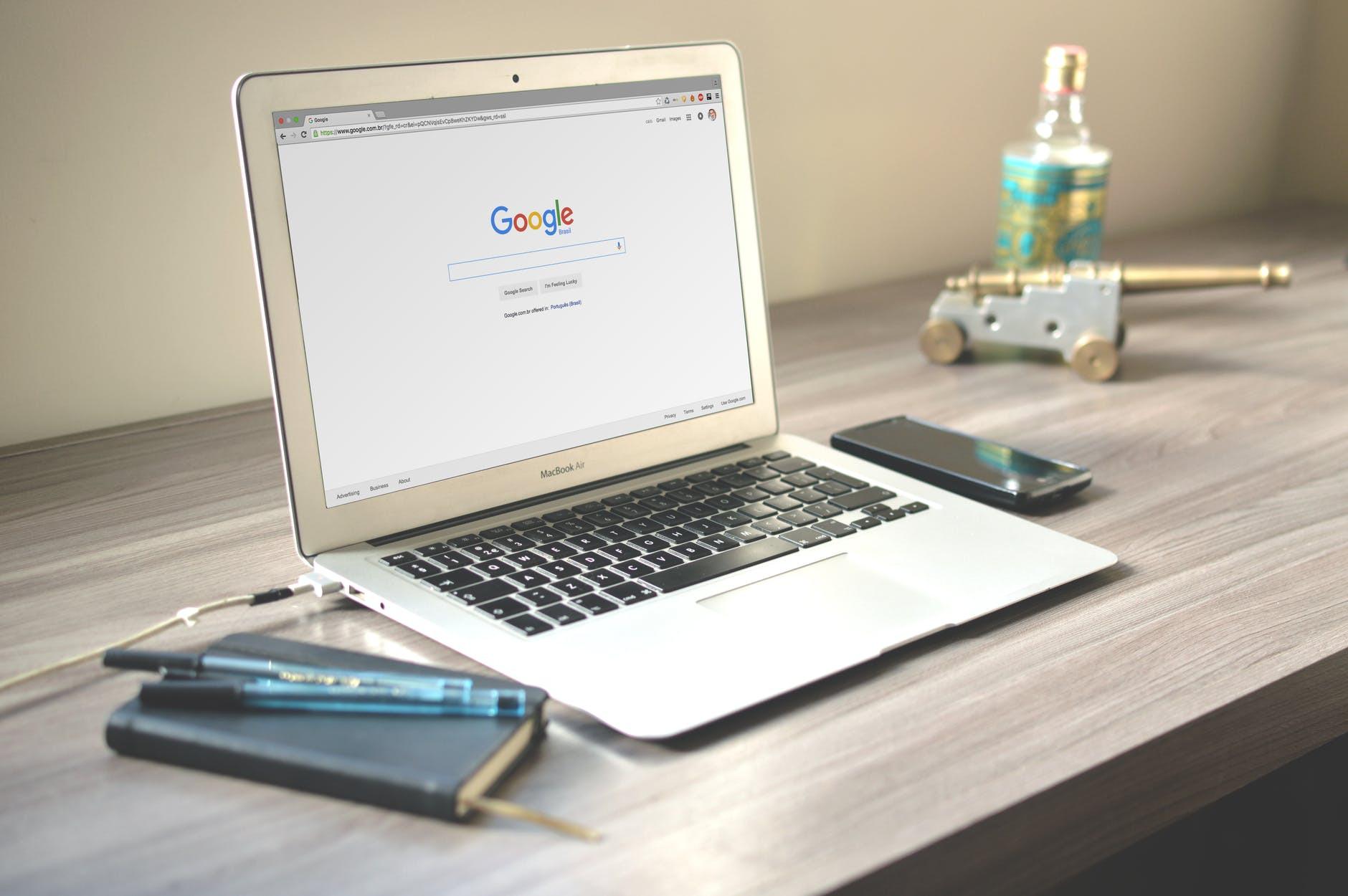 Seo laptop Google