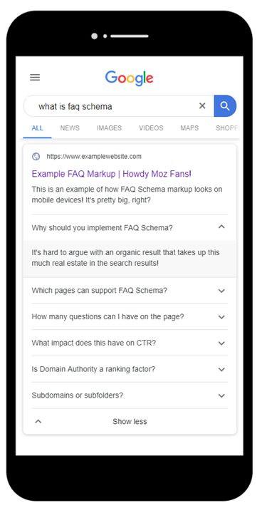FAQ, HowTo, en Q&A: het Gebruik van Nieuwe Soorten Schema voor het Maken van Interactieve Rijke Resultaten