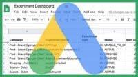 A script to create a Google Ads Experiments dashboard